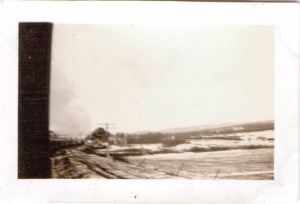 Front end of train - 4 carriages from rear, Canada 1941 at 50 mph