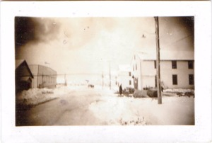 Main street of barracks - Moncton 1941
