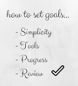 how to set goals...